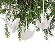 Origami Crane Christmas Ornaments