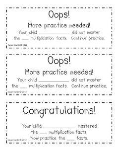 3rd Grade Grapevine: Multiplication Fluency Test FREEBIE