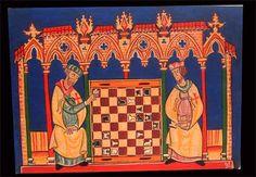 Juego de ajedrez de caballeros templarios