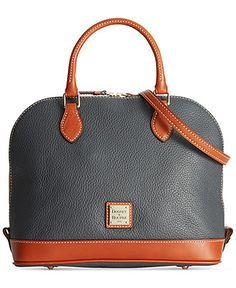 Dooney & Bourke Pebble Zip Top Satchel - Dooney & Bourke - Handbags & Accessories - Macy's. To blend my greys and browns this fall/winter.
