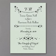 Enchanted Evening - Invitation - Mint Shimmer. Available at Persnickety Invitation Studio.