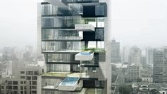 Horizontal Swimming Pools Jut Out Of This Sky-high Apartment Building | The Creators Project