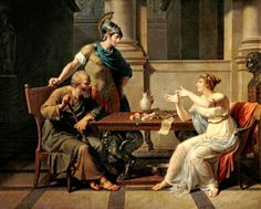 """""""Socrates Talking with Athenian Woman"""". (by Nicolas Andre Monsiaux). Pushkin Museum of Fine Arts. Ancient Rome, Ancient Greece, Oil Canvas, Western Philosophy, Historia Universal, Great Philosophers, Museum Of Fine Arts, Women In History, Frames"""