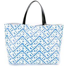 Kenzo Kenzo Print Tote ($235) ❤ liked on Polyvore featuring bags, handbags, tote bags, blue, tote handbags, handbag tote, white purse, blue tote bag and blue handbags