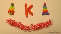 How to Make Alphabet Letter K on RAinbow Loom