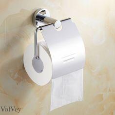 Stainless Steel Toilet Roll Holder Chrome Finish Bathroom Accessory Paper Holder