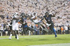 BYU football looks to continue its winning ways this Thursday night against another formidable opponent in Boise State. The undefeated Broncos are ranked No. 14 in the AP top 25 poll and are hoping to avenge last year's tough loss in Provo. Byu Sports, Byu Football, Dolores Park, Universe, History, Historia, Cosmos, Space, The Universe