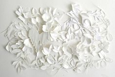 White paper wall art for Valentine's Day, getting intimate with paper!