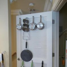 I'm torn between wanting a pot rack or doing something like this and hiding the clutter from my pots and pans. Decisions, decisions...