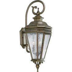 Progress Lighting 3 Light Outdoor Wall Lantern Chesnut P5622 86