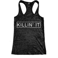 40f2d33dcd1 Killin  It Burnout Racerback Tank - Workout tank Women s Exercise  Motivation for the Gym