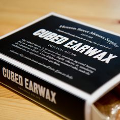 Cubed Earwax made of caramel