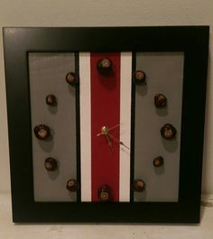 Ohio State wall clock- make my own with numbers so the boys can learn to tell time