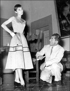 Audry Hepburn and Salvatore Ferragamo http://sammydvintage.com/2010/03/the-history-of-ferragamo-shoes/
