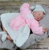 Calico Rose Dress Knitting Pattern #55 - via @Craftsy