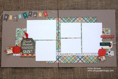 Capture your favorite fall memories this season with this two page layout design using the Fall Blessings collection by Carta Bella. www.shoppaperologie.com