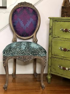 Dining Chairs - Furniture Buying And Looking After Your Home Furnishings Funky Chairs, Vintage Chairs, Cool Chairs, Victorian Dining Chairs, Rocking Chairs, Funky Furniture, Unique Furniture, Painted Furniture, Furniture Ideas