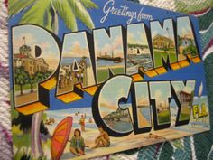 Shop Panama City Beach Souvenirs Postcards from CafePress. Find great designs on high quality postcards. Panama City Beach Florida, Old Florida, Florida Travel, Panama City Panama, Vintage Florida, Beach Souvenirs, Big Letters, Photo Postcards, Back Home