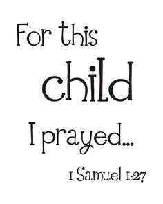 Child I prayed