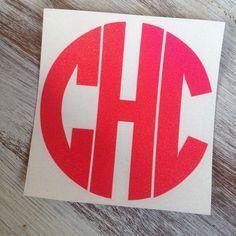 Glitter Monogram Vinyl Decal - pinned by pin4etsy.com