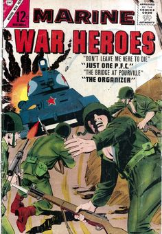 Comic Book Cover For Marine War Heroes #5