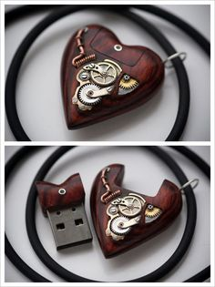 4c5901557 Carved USB Heart Pendant by Artype. Perfect tech nerd meets steampunk  wedding gift for bridesmaids.