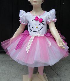 Disfraz Vestido Estilo Hello Kitty De Lujo Con Accesorios - $ 390.00 en MercadoLibre