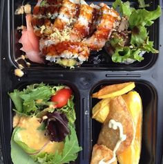 Have a bento box on the go. An easy and fun way to eat lunch.