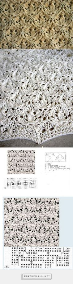 More Estonian Starflower lace pattern... wondering if the smaller handwritten chart was meant for knitting in the round, as it is without added lateral stitches to balance repeats of the pattern itself into smooth sides in flat knitting... ~~ http://mizrah.ru/post213406912//post213406912/