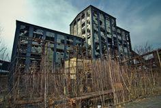 Exterior of the abandoned Ashley Coal Breaker, Ashley, PA