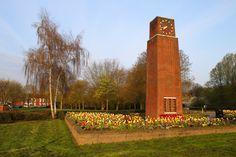 War Memorial & Tulips, New Bradwell, Milton Keynes