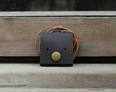 Weepy - Genuine Leather Necklace Pouch / Purse / Coin Bag / Coin Holder / Coin Wallet in Handmade ( Buy 2 get 1 Free )