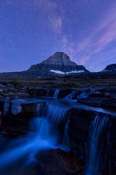 The Milky Way, Mt. Reynolds, Logan's Pass, Glacier National Park, Montana.