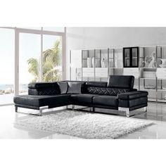 Divani Casa Arden Modern Black Fabric Sectional Sofa -  @ LA Furniture $1550