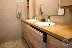Made by Puuartisti Kylpyhuonekalusteet valkotammesta Finnish Sauna, Custom Woodworking, White Oak, Bathroom Furniture, Solid Wood, Sink, Interior Design, Finland, Bathrooms