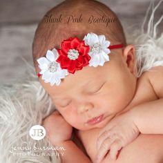 Cinta de Navidad Navidad bebé diadema diademas de por ThinkPinkBows