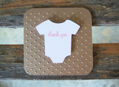 Baby Shower Thank You Cards  Pink Onesie  Set of by JennMOriginals, $10.00