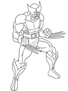 X Men Wolverine Coloring Page