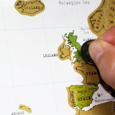 SCRATCH TRAVEL MAP OF THE WORLD: This is a great gift idea for the travellers out there. Based on the idea of a scratch card, you simply scratch of the places you have visited so you can see where you've been and where you've still left to go. The countries are all different colours underneath giving you your own customised travel map!