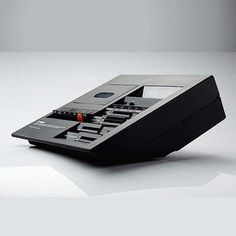 """YAMAHA TC-800GL designed by Mario Bellini 1976 """"This unit's greatest feature was its solution to the problem of choosing a stationary or portable cassette deck, a solution that came in the form of a versatile design that seamlessly fused both advantages. Its distinctive form came to be referred to as the """"Bellini Angle,"""" a design incorporating exhaustive calculations of every angle so that whether looking down from above or placed at eye level the operating unit's text and readouts, the…"""