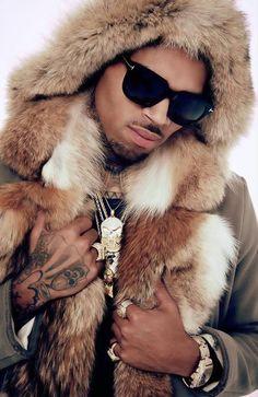 Chris Brown with a big enormous fluffy cozy coat❤❤ Chris Brown And Royalty, Chris Brown Style, Breezy Chris Brown, Just Beautiful Men, Beautiful Men Faces, Big Sean, Trey Songz, Ryan Gosling, Rita Ora