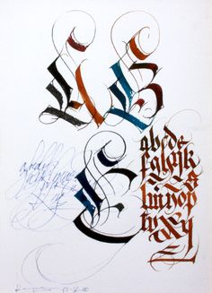 Fantasy handmade gothic letters