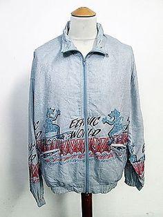 Vintage 90s ETHNIC WORLD Designer Festival Waterproof Shellsuit Jacket XL