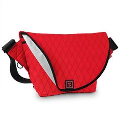 "Small Zero Messenger Bag | X-Pac Red   Rickshaw Bagworks ............. Dimensions 8"" H x 9"" W x 4"" D  ............ $79.00"