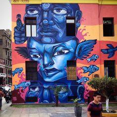 Entes and Pesimo collab in Lima, Peru 1/2016  #entesypesimo #entes #pesimo #callao #lima #peru