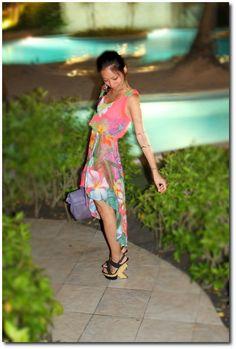 back lean + rainbow print Rainbow Print, Wrap Dress, Outfits, Dresses, Fashion, Vestidos, Moda, Fashion Styles, Wrap Dresses