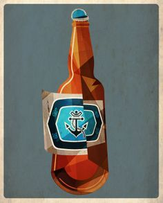 Dave Murray has created a series of CUBIST ILLUSTRATIONS of the beers he enjoys.