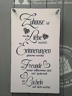 """""""ZUHAUSE... """" - Wandschild Deko Shabby Vintage"""