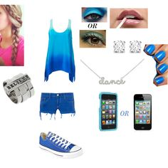 """BLUE"" by angely-resendiz on Polyvore"
