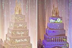 Coolest Disney Cake I have ever seen. A movie on your cake. Alright, it's been decided. When I become rich and famous I'm having my wedding at Disney. Perfect Wedding, Our Wedding, Dream Wedding, Wedding Castle, Cinderella Wedding, Princess Wedding, Festa Party, Disney Cakes, Cool Wedding Cakes